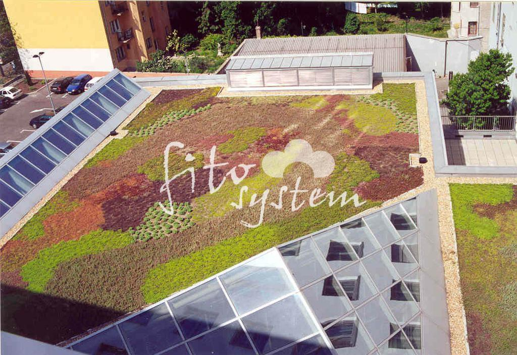 Irodaház - Fito System - extenzív zöldtető